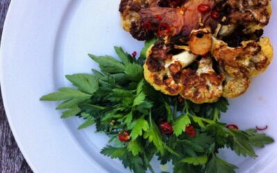 Curried Cauliflower Steaks with Parsley Salad