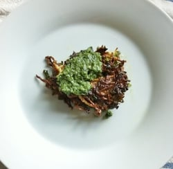 Indian Spiced Fritters with Mint Chutney