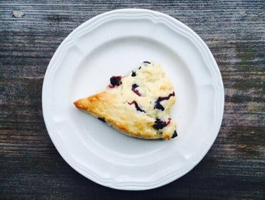 Blueberry Buttermilk Scones with Fresh or Preserved Lemon