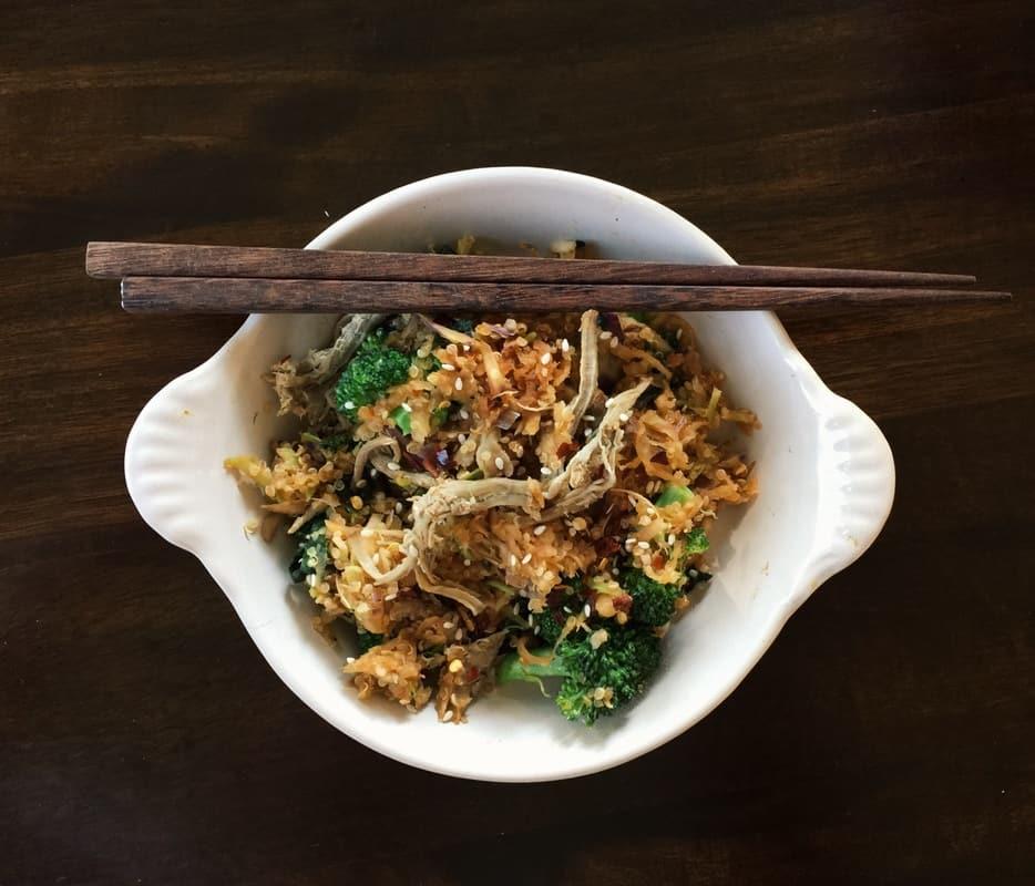 Broccoli and Kohlrabi Fried Rice