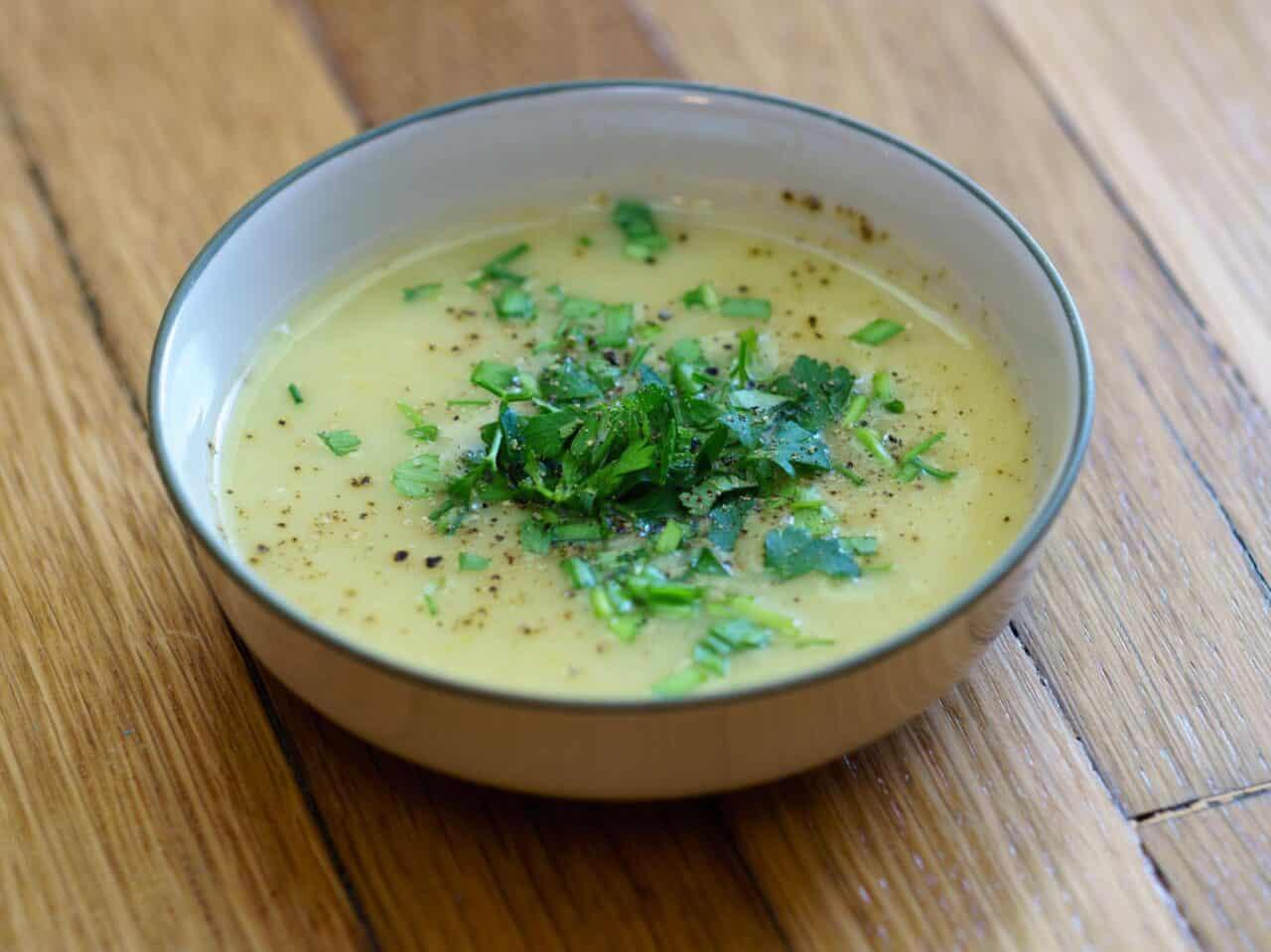 Potato Leek Soup, Two Ways