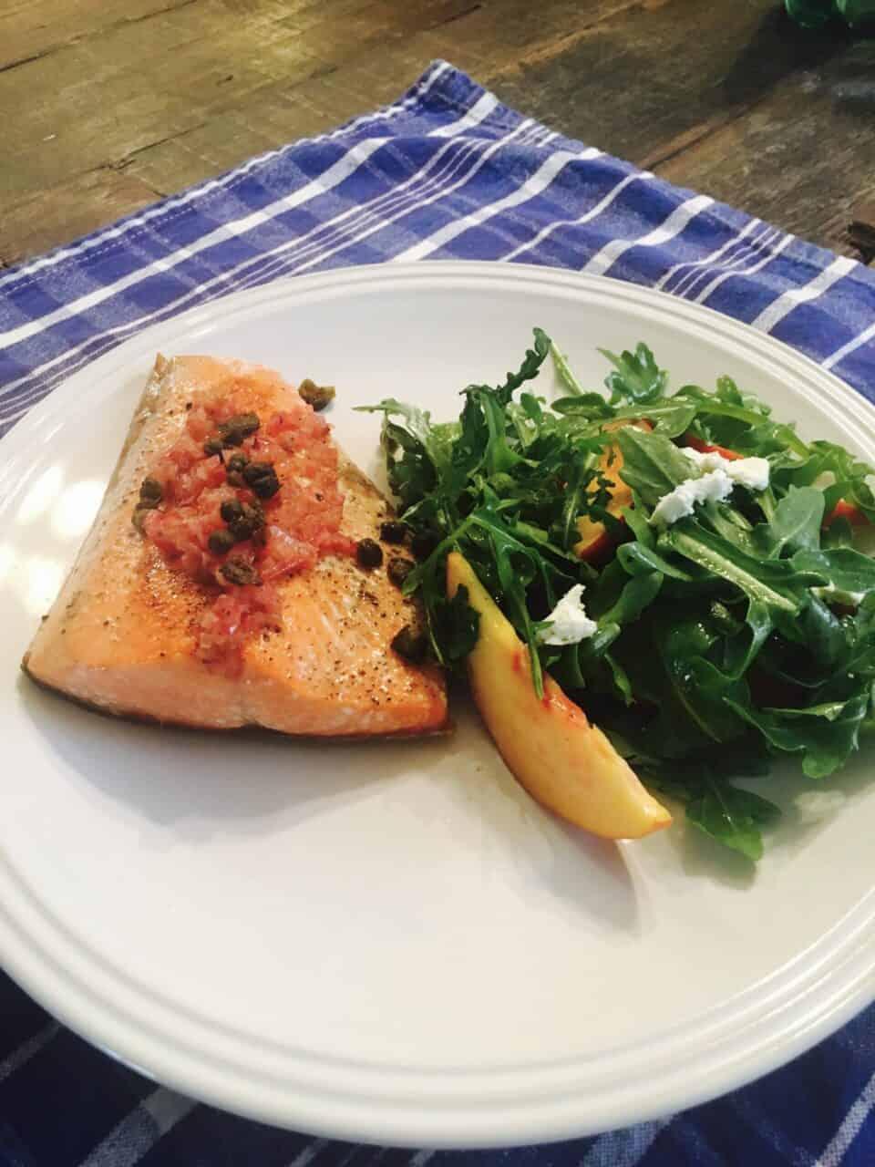 Salmon and Arugula Salad