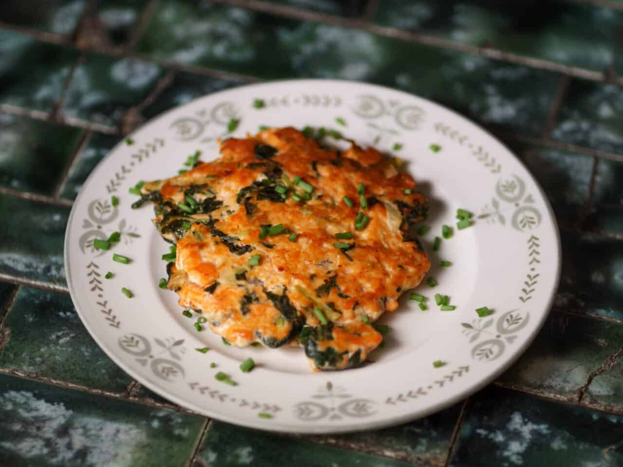 Kale and Salmon Cakes