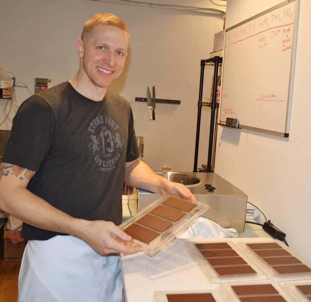 Belle Chocolates Smiling Baker