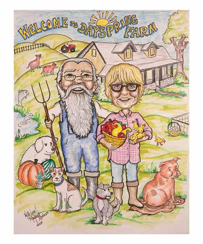 Dayspring Farm & Pig Mountain Illustration