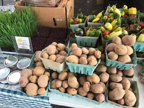 Red Clay Farm Potatoes at the Market