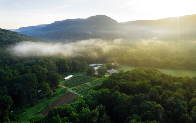 Sequatchie Cove Farm Aerial Shot