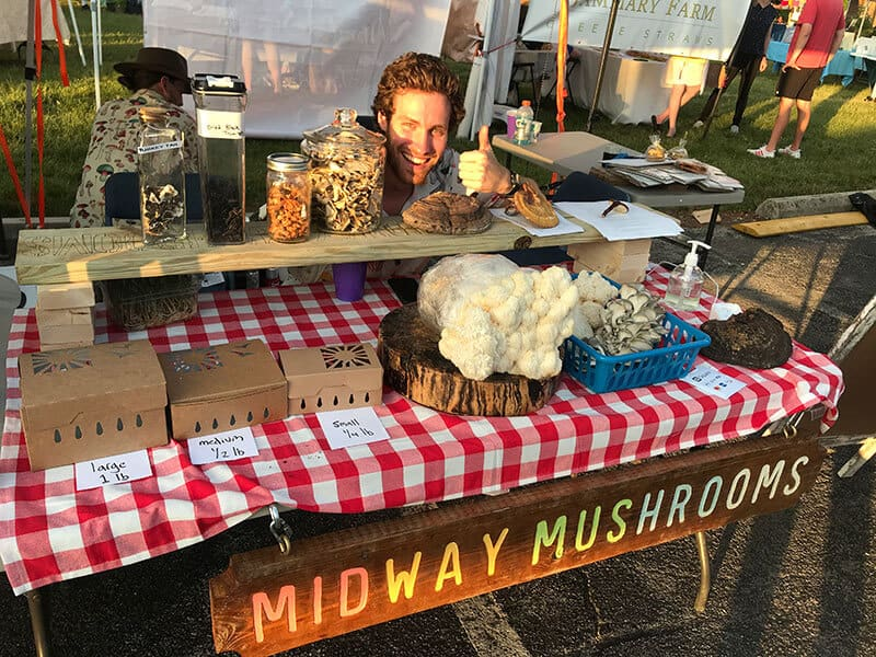 Midway Mushrooms booth
